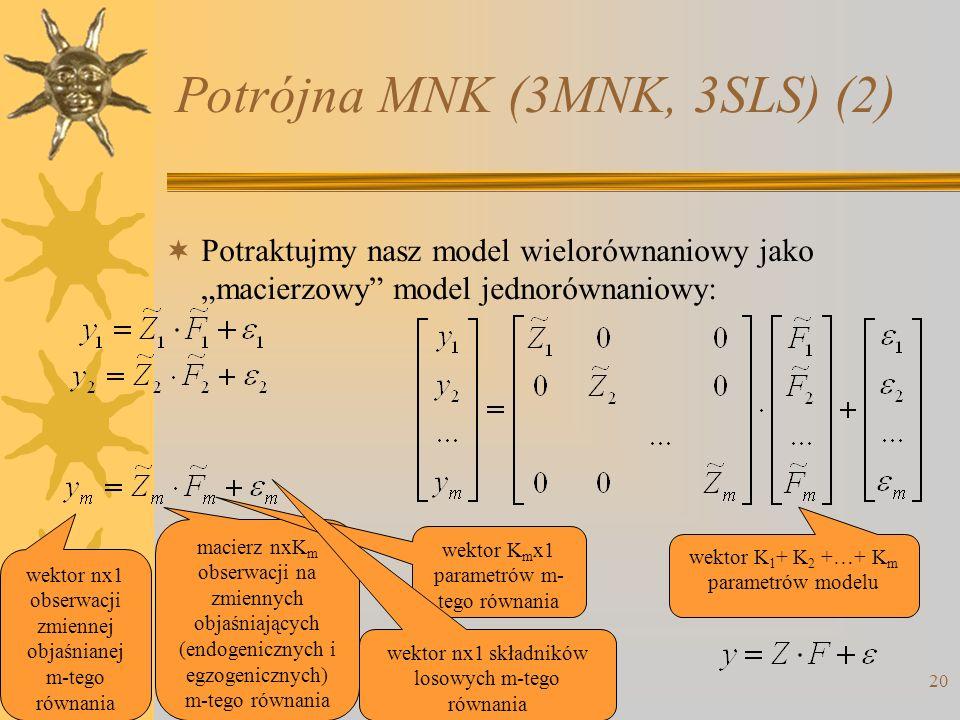Potrójna MNK (3MNK, 3SLS) (2)