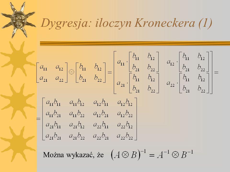Dygresja: iloczyn Kroneckera (1)