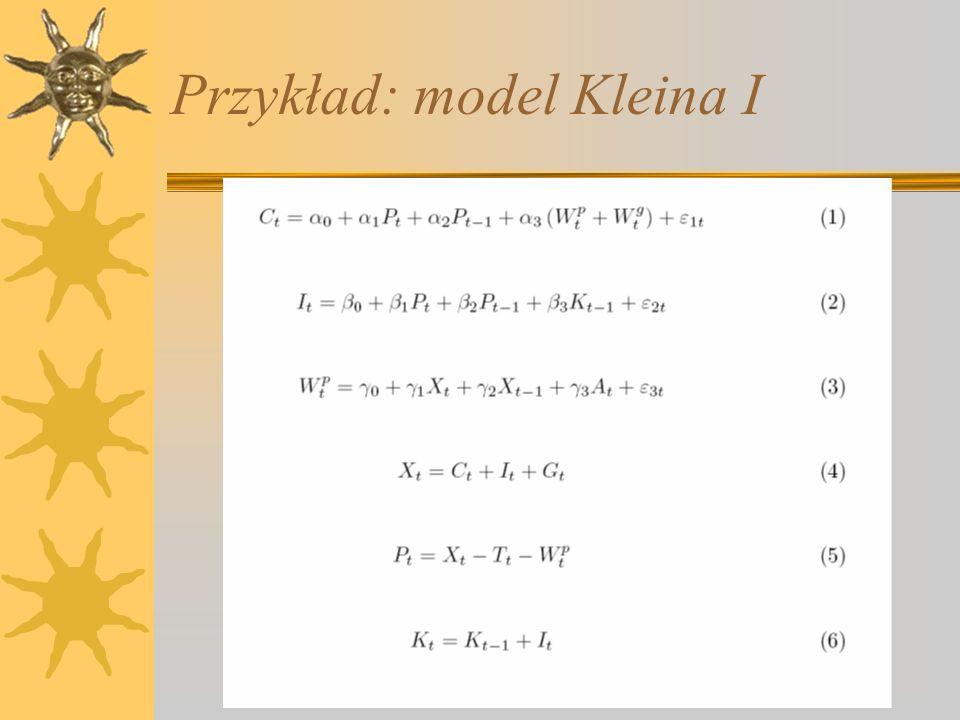 Przykład: model Kleina I