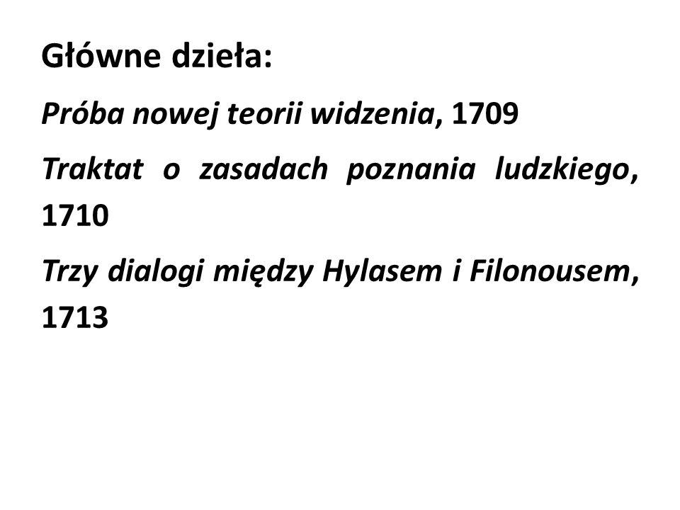 Główne dzieła: Próba nowej teorii widzenia, 1709