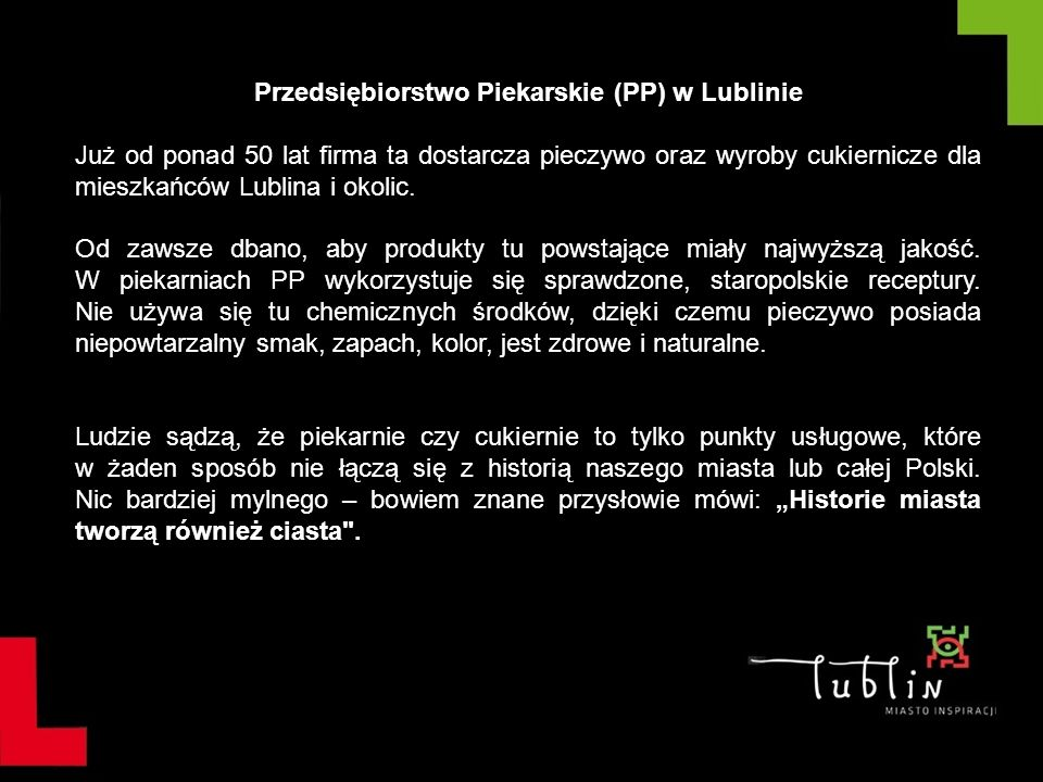 Przedsiębiorstwo Piekarskie (PP) w Lublinie