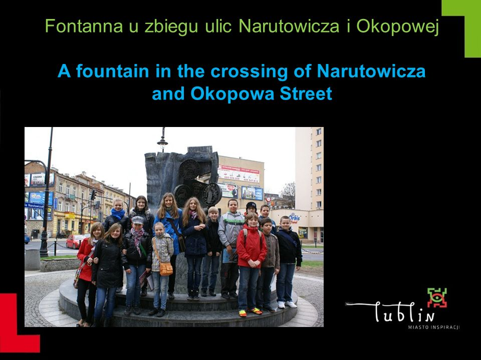 Fontanna u zbiegu ulic Narutowicza i Okopowej