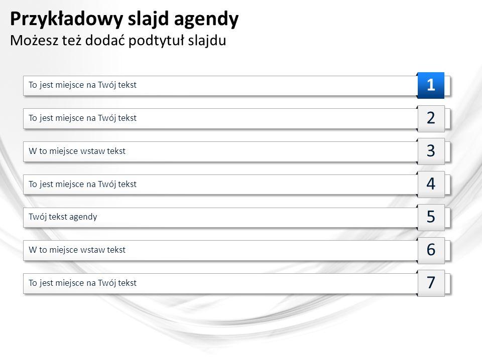 Przykładowy slajd agendy