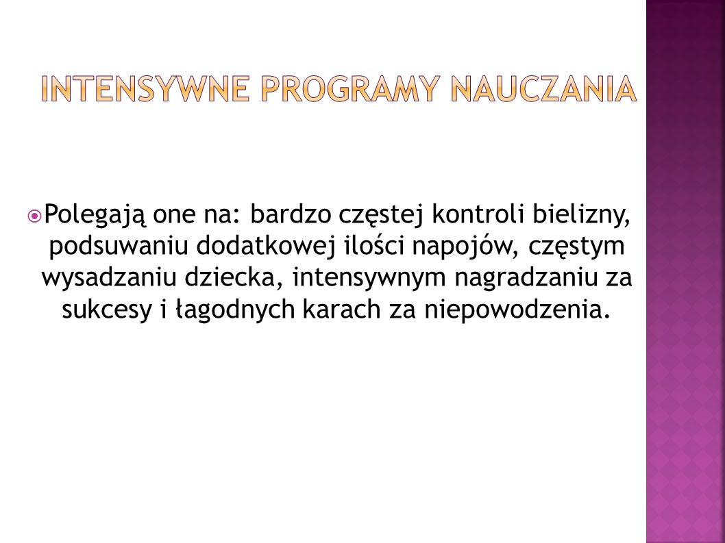 INTENSYWNE PROGRAMY NAUCZANIA