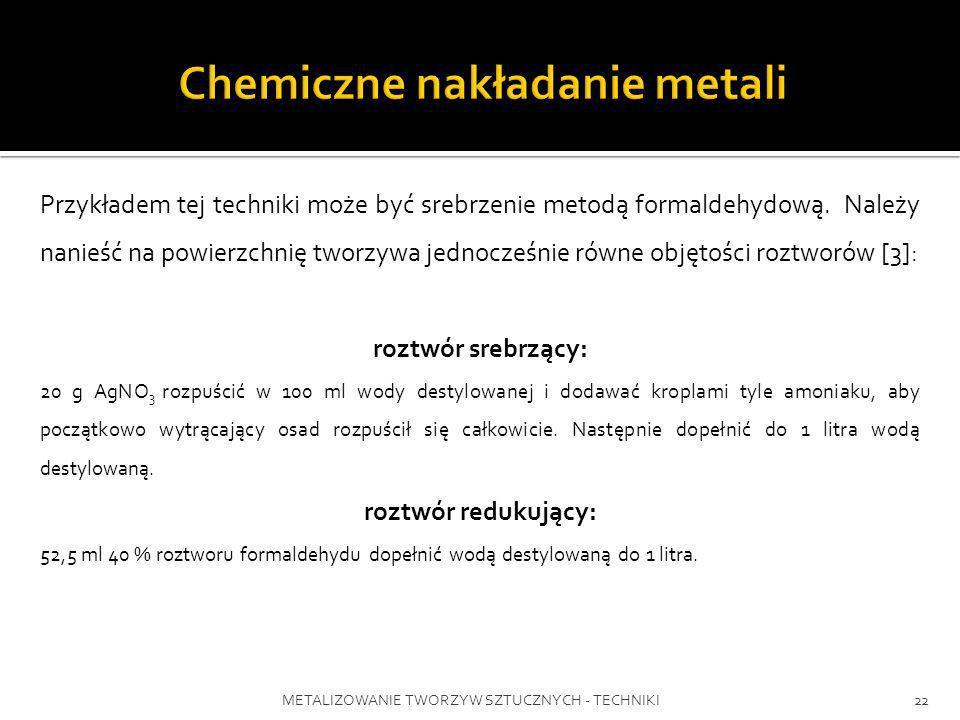 Chemiczne nakładanie metali