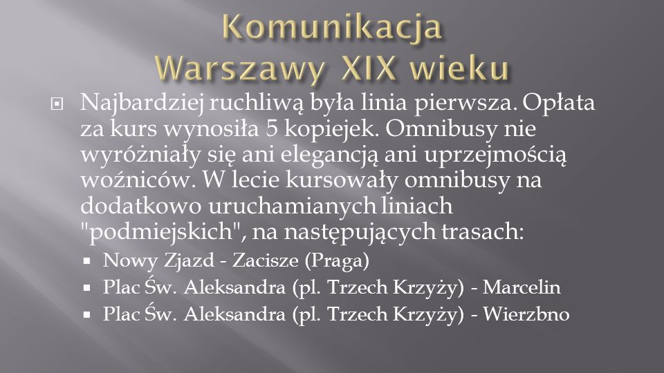 Komunikacja Warszawy XIX wieku