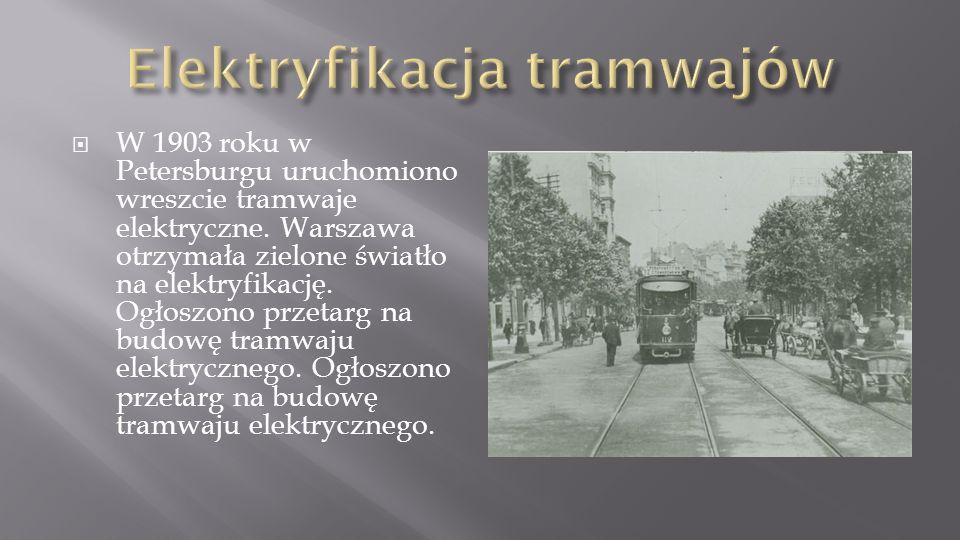 Elektryfikacja tramwajów