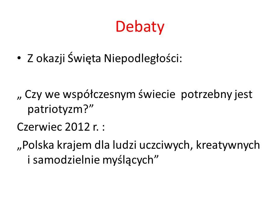 Debaty Z okazji Święta Niepodległości:
