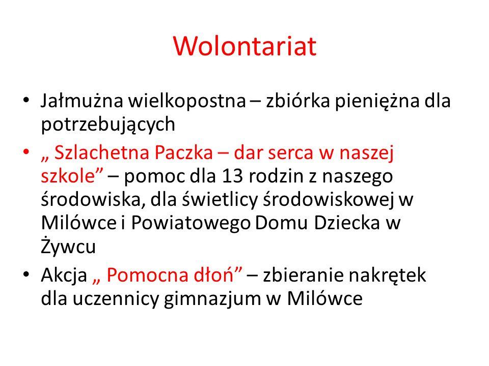 Wolontariat Jałmużna wielkopostna – zbiórka pieniężna dla potrzebujących.