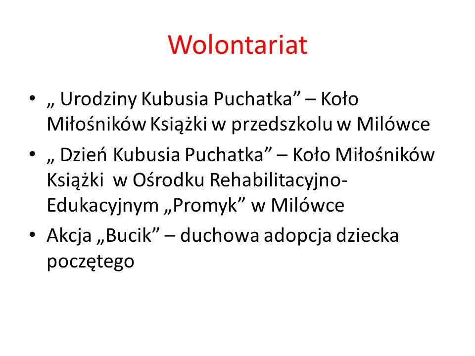 """Wolontariat """" Urodziny Kubusia Puchatka – Koło Miłośników Książki w przedszkolu w Milówce."""