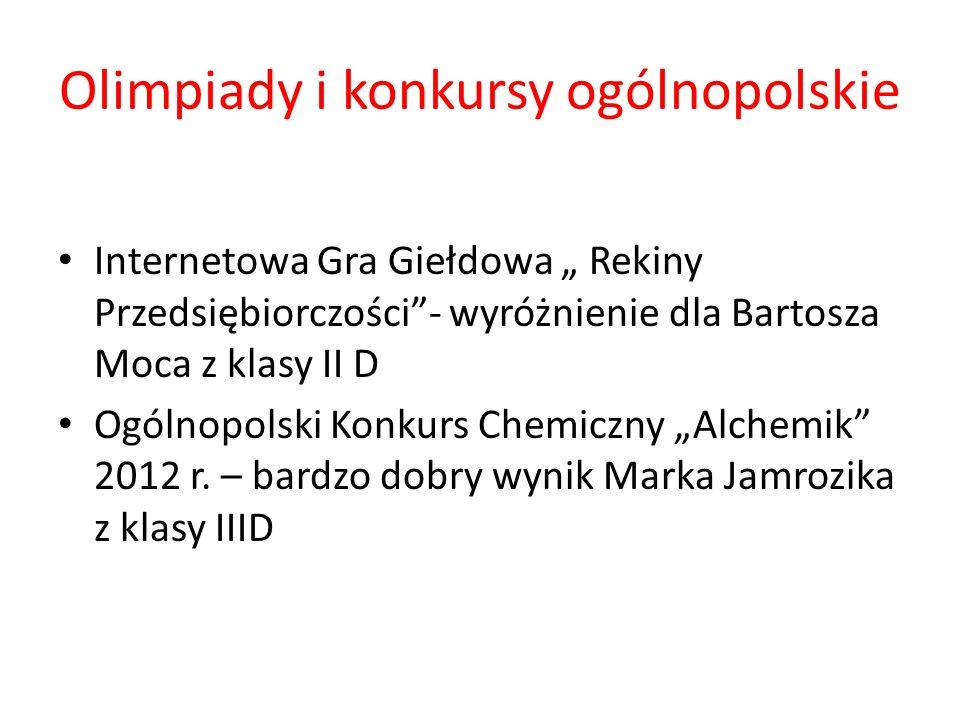 Olimpiady i konkursy ogólnopolskie