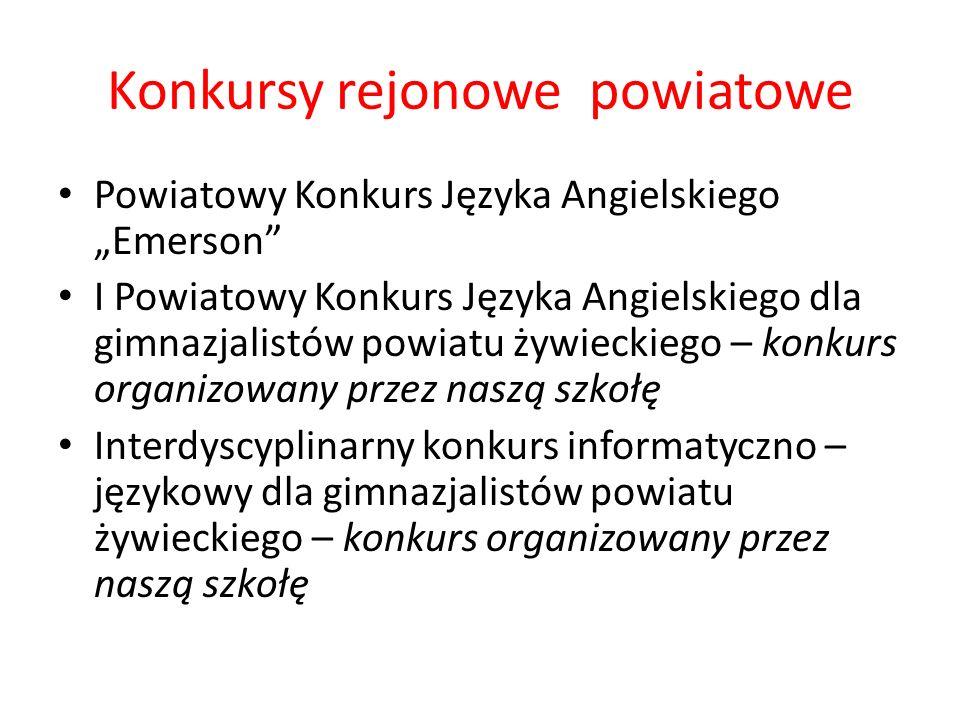 Konkursy rejonowe powiatowe