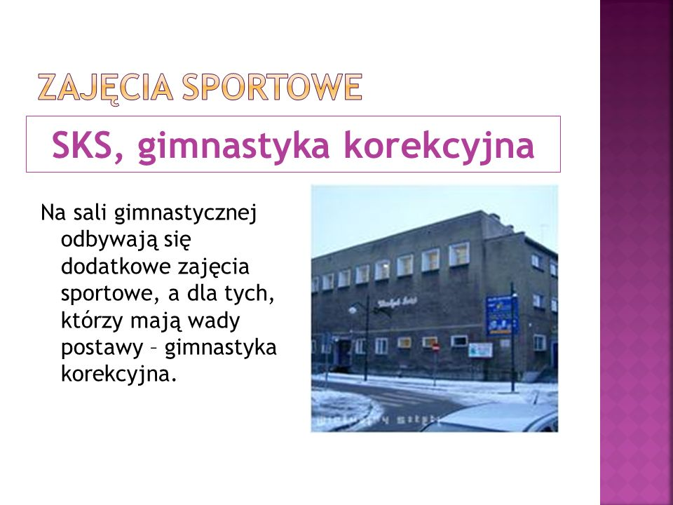 SKS, gimnastyka korekcyjna