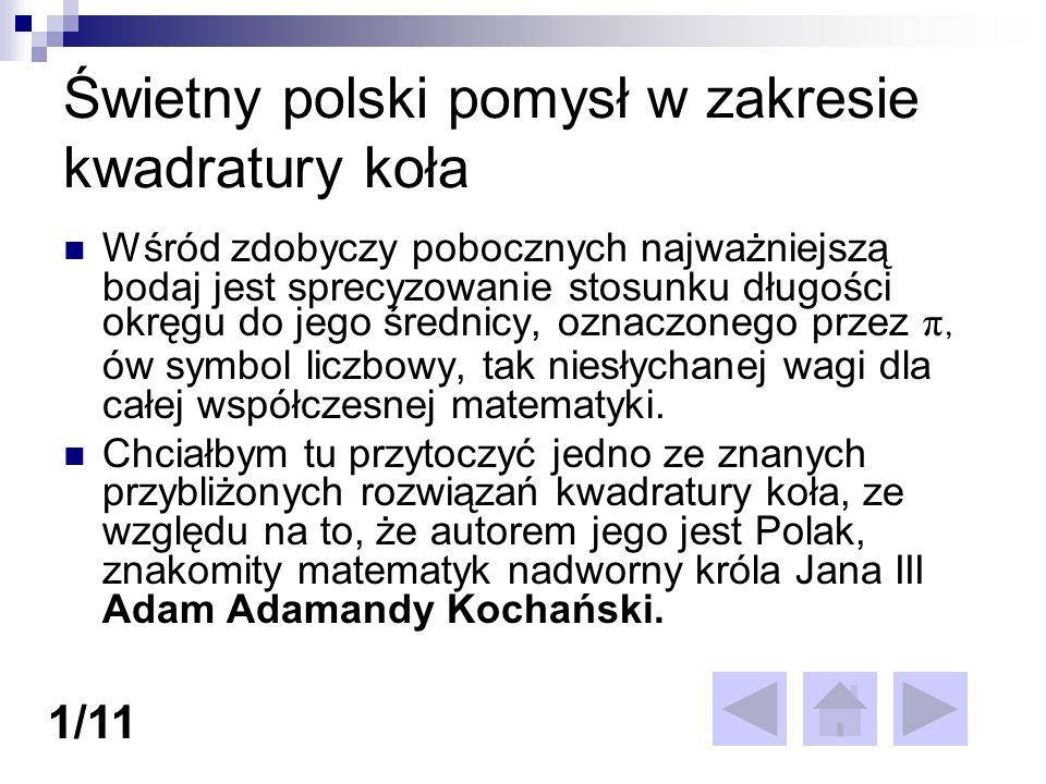 Świetny polski pomysł w zakresie kwadratury koła
