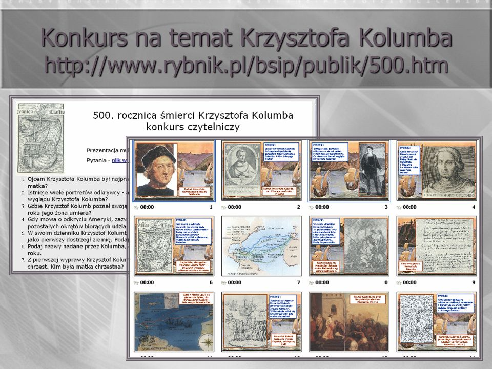 Konkurs na temat Krzysztofa Kolumba http://www. rybnik