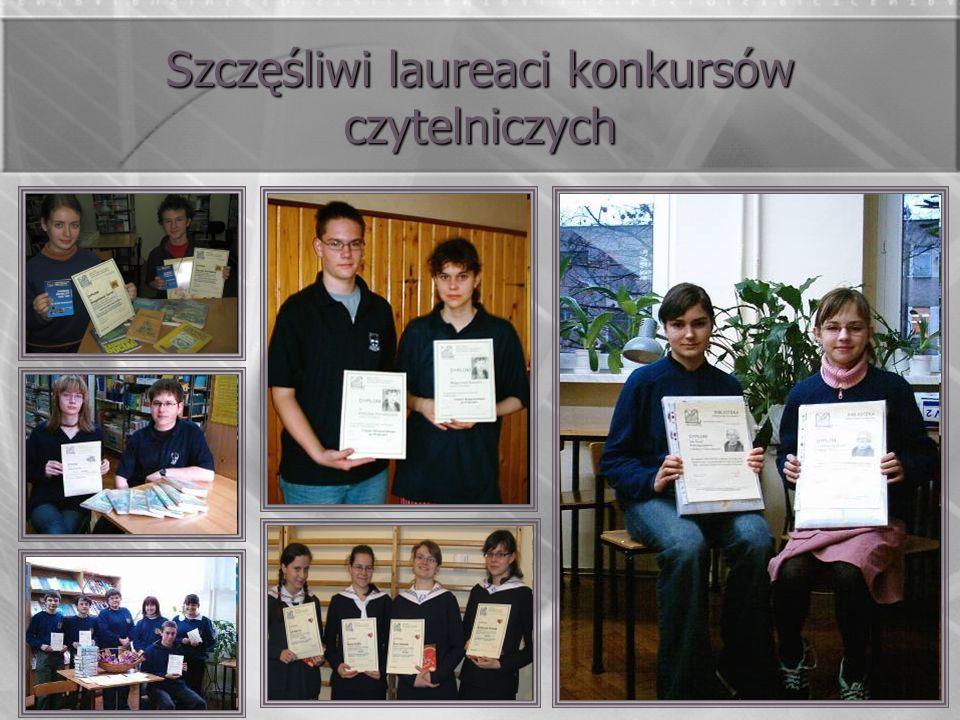 Szczęśliwi laureaci konkursów czytelniczych
