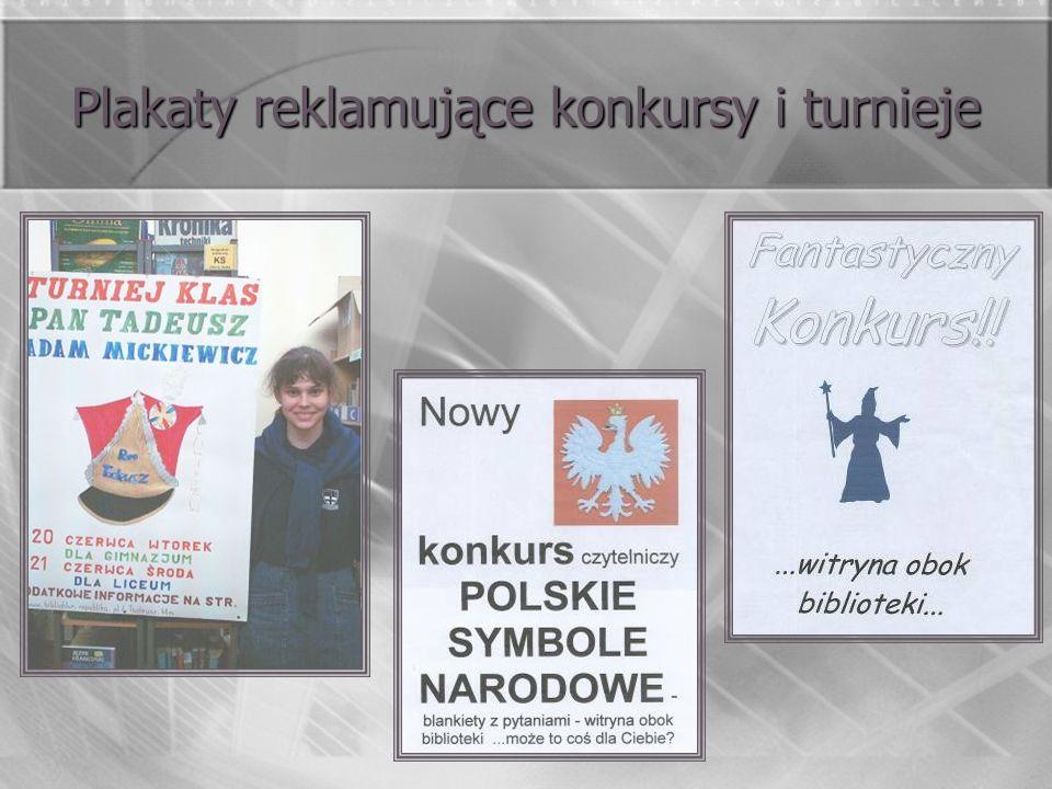 Plakaty reklamujące konkursy i turnieje