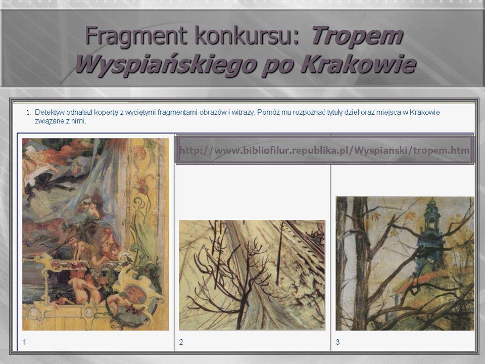 Fragment konkursu: Tropem Wyspiańskiego po Krakowie