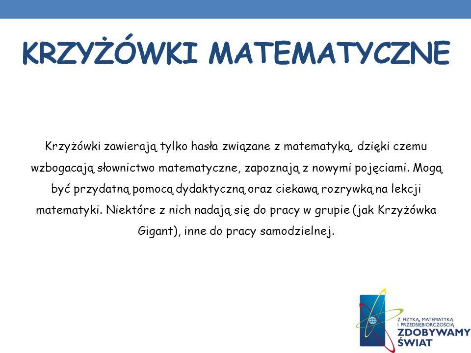 Krzyżówki matematyczne