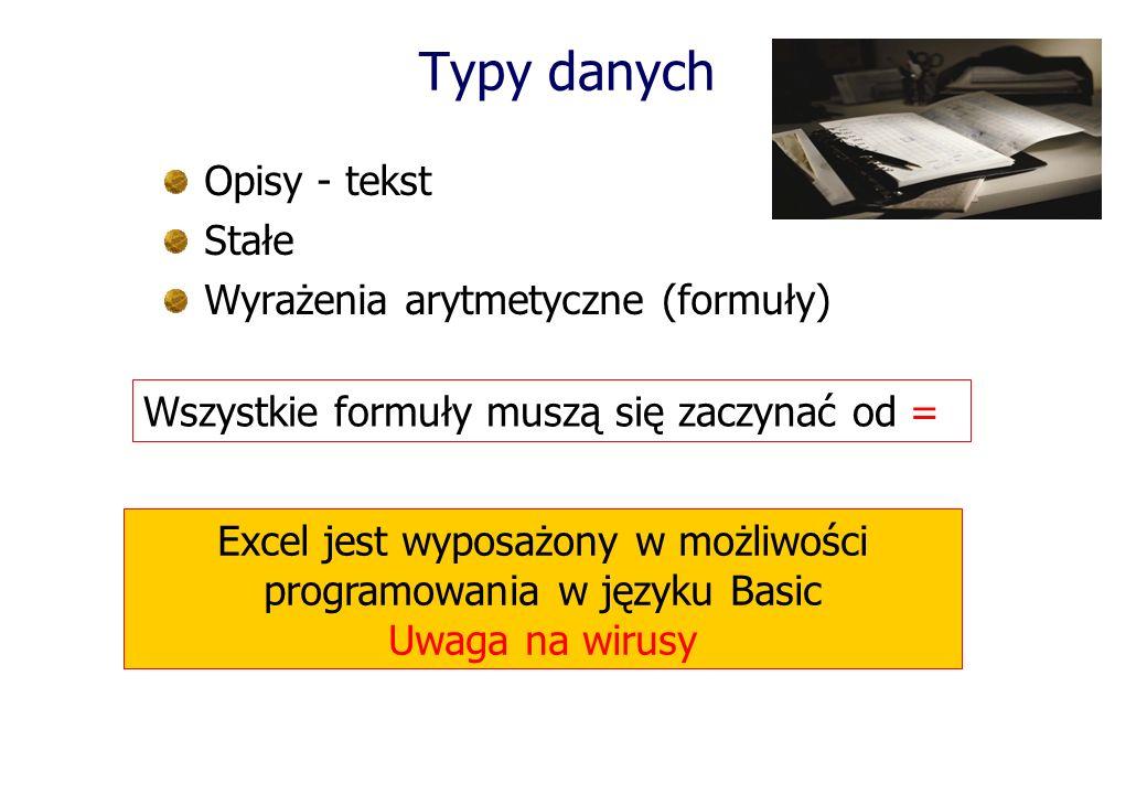Excel jest wyposażony w możliwości programowania w języku Basic