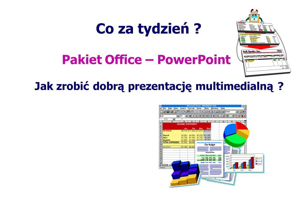 Co za tydzień Pakiet Office – PowerPoint