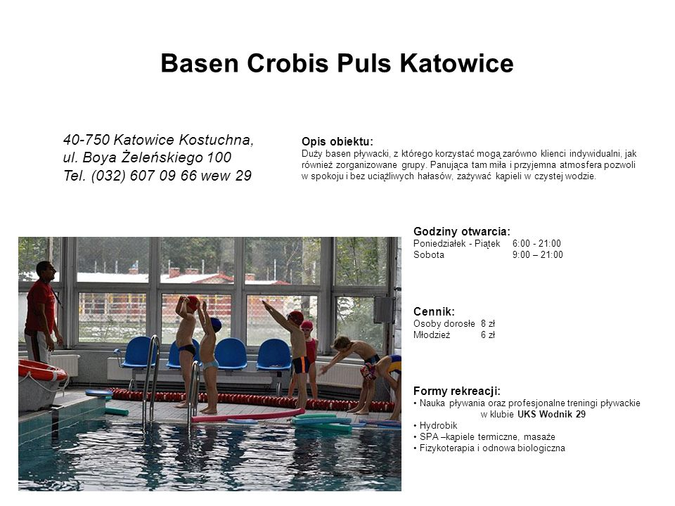 Basen Crobis Puls Katowice