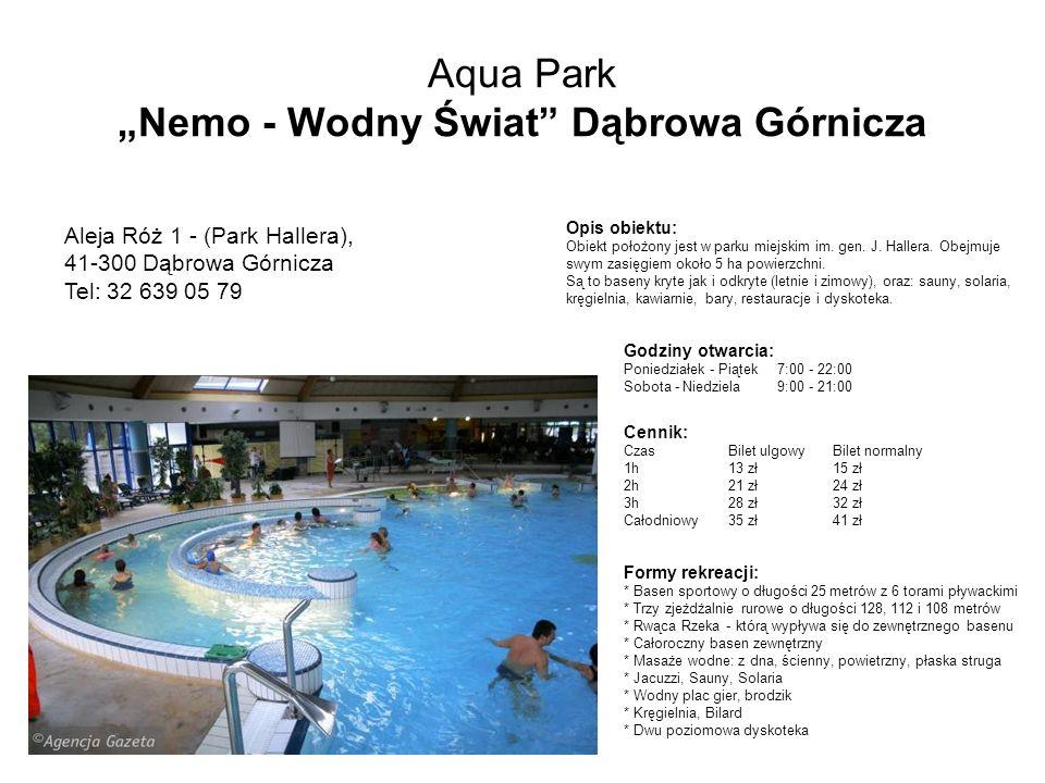 """Aqua Park """"Nemo - Wodny Świat Dąbrowa Górnicza"""