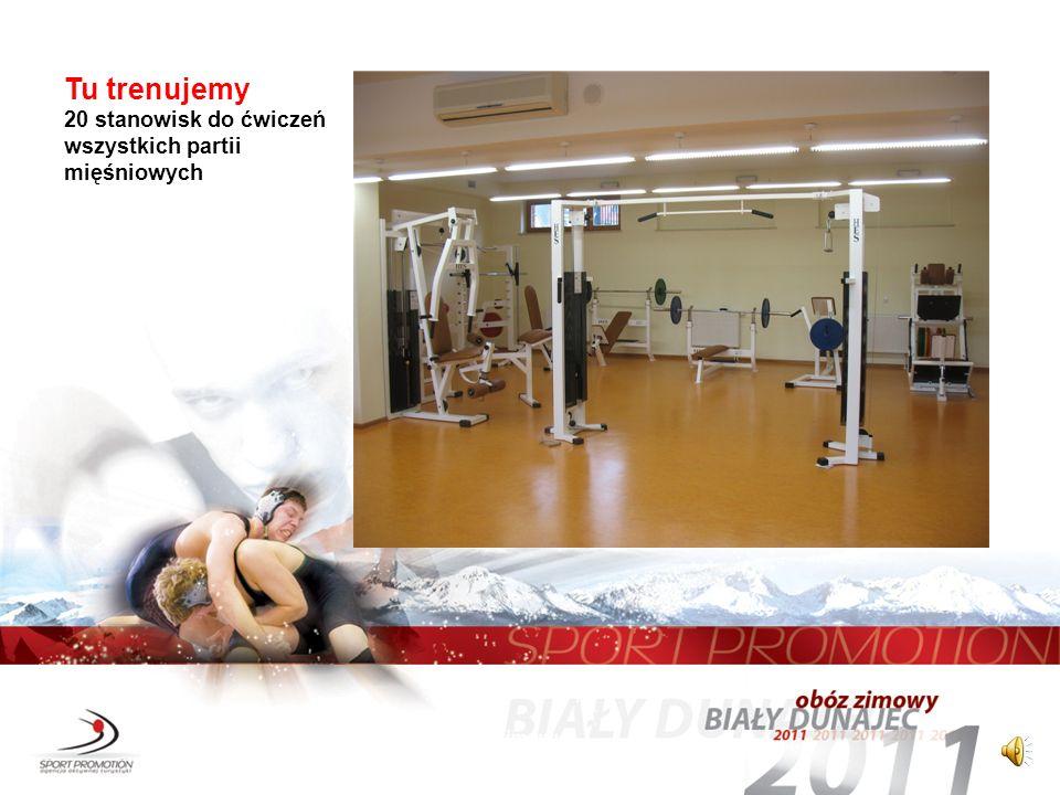 Tu trenujemy 20 stanowisk do ćwiczeń wszystkich partii mięśniowych