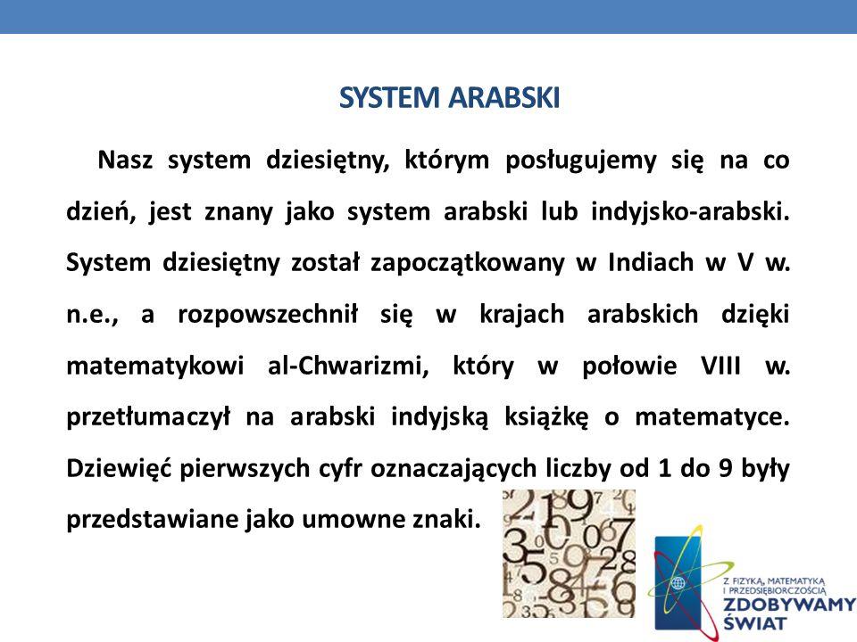 System arabski