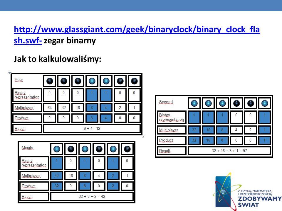 http://www. glassgiant. com/geek/binaryclock/binary_clock_fla sh