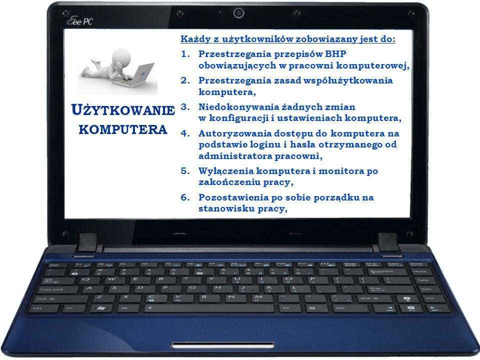 Użytkowanie komputera