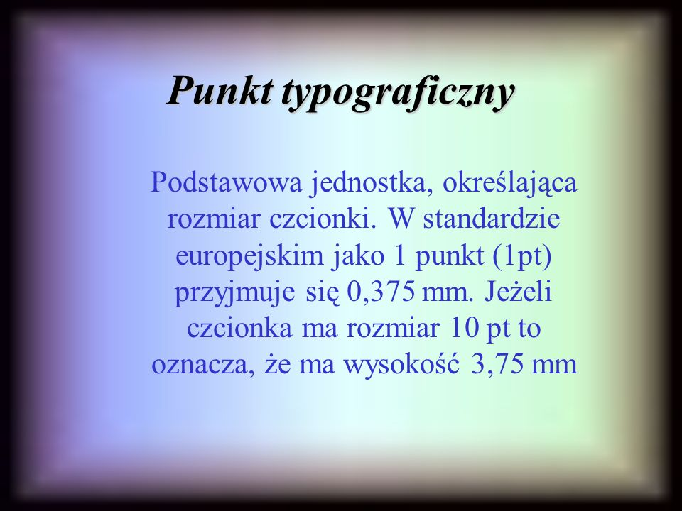 Punkt typograficzny