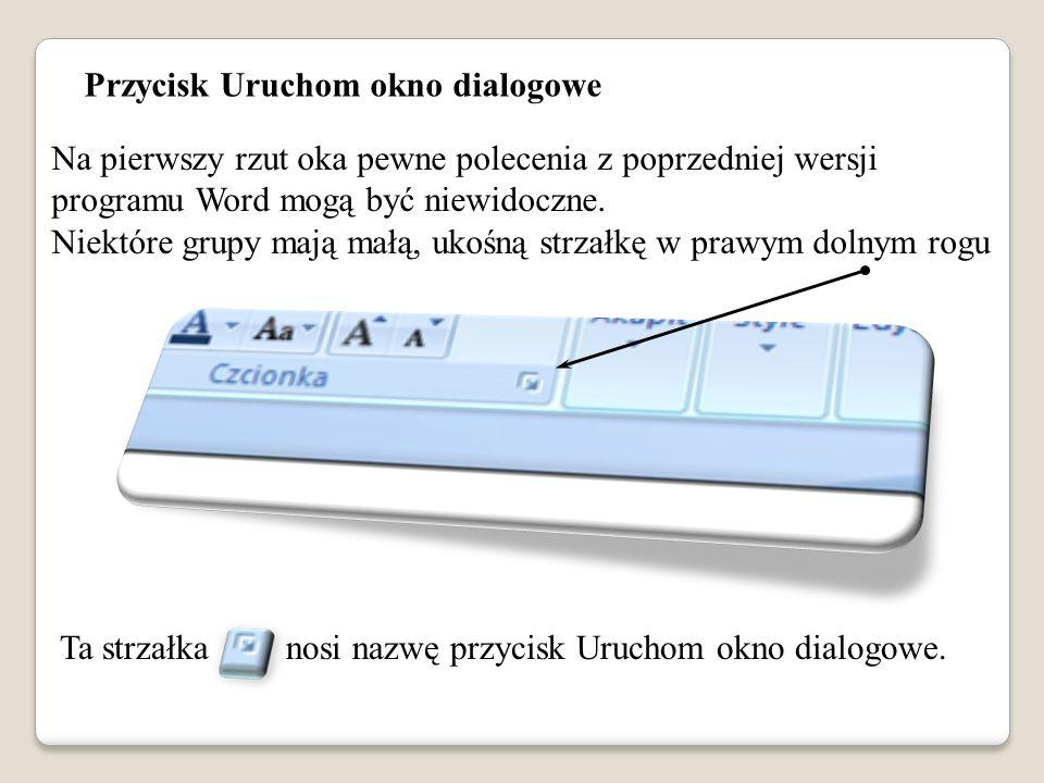 Przycisk Uruchom okno dialogowe