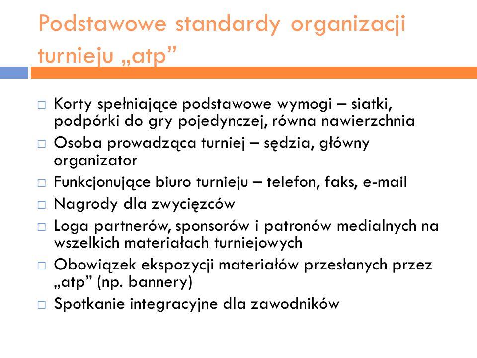 """Podstawowe standardy organizacji turnieju """"atp"""