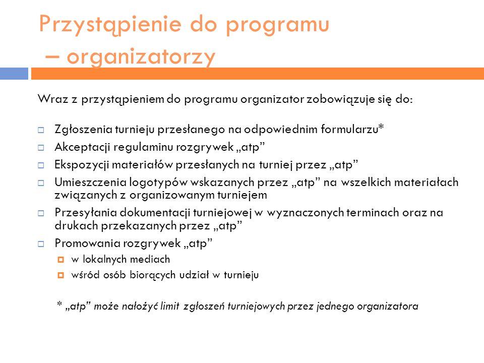 Przystąpienie do programu – organizatorzy