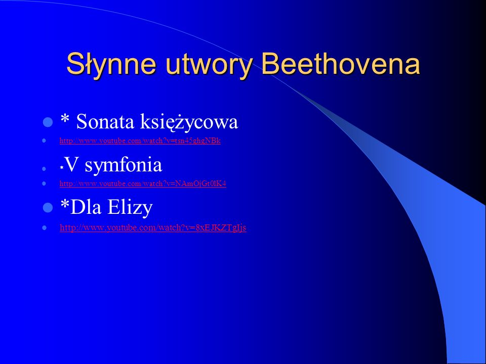 Słynne utwory Beethovena