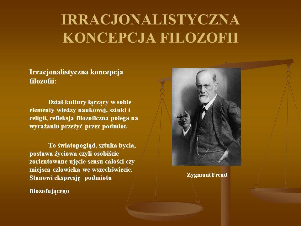 IRRACJONALISTYCZNA KONCEPCJA FILOZOFII