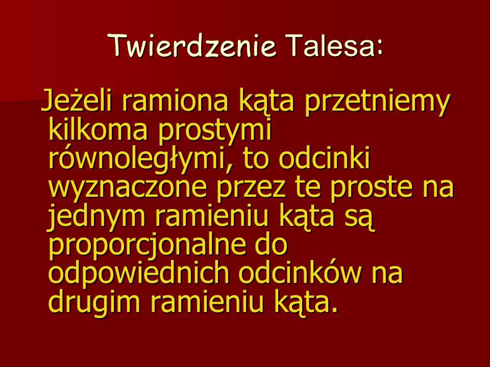 Twierdzenie Talesa: