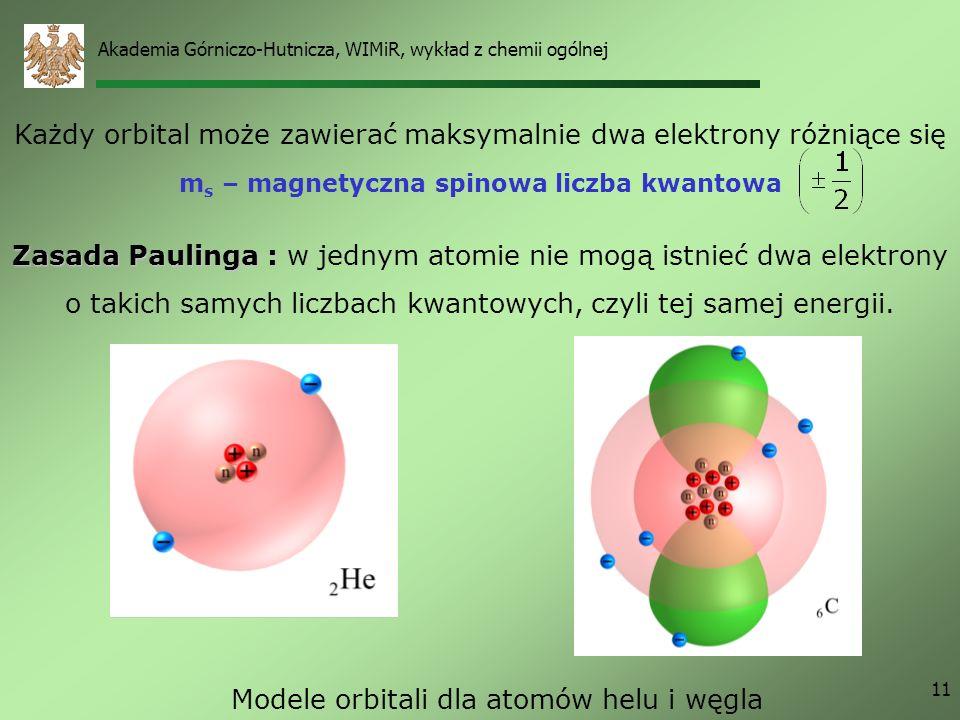 Modele orbitali dla atomów helu i węgla