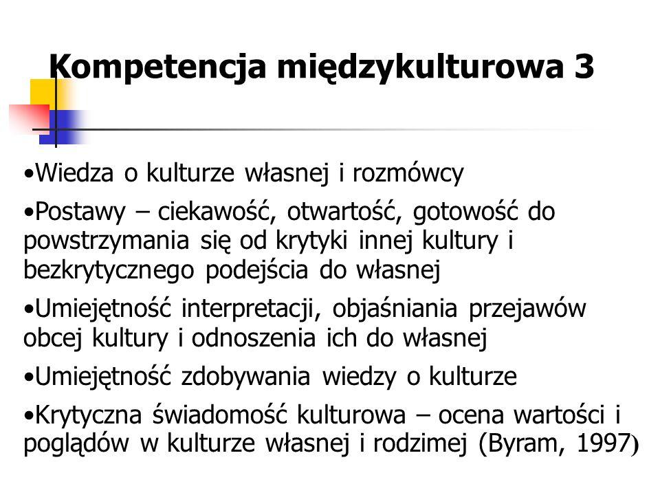 Kompetencja międzykulturowa 3
