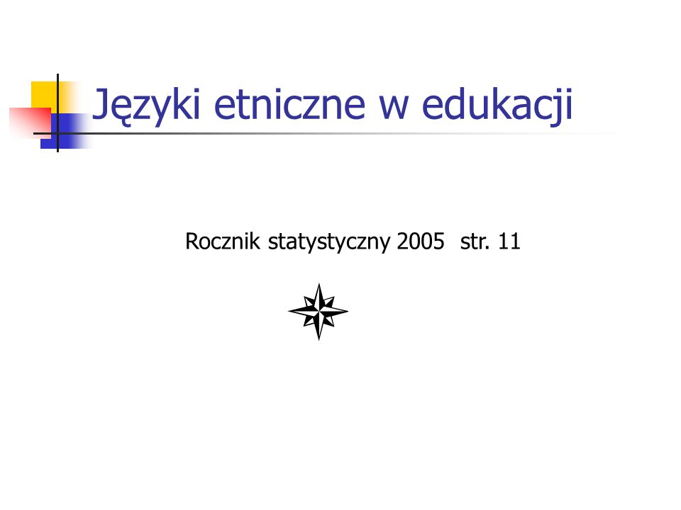 Języki etniczne w edukacji