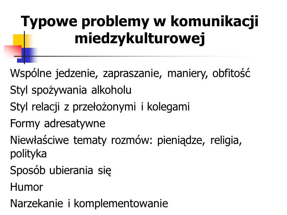 Typowe problemy w komunikacji miedzykulturowej