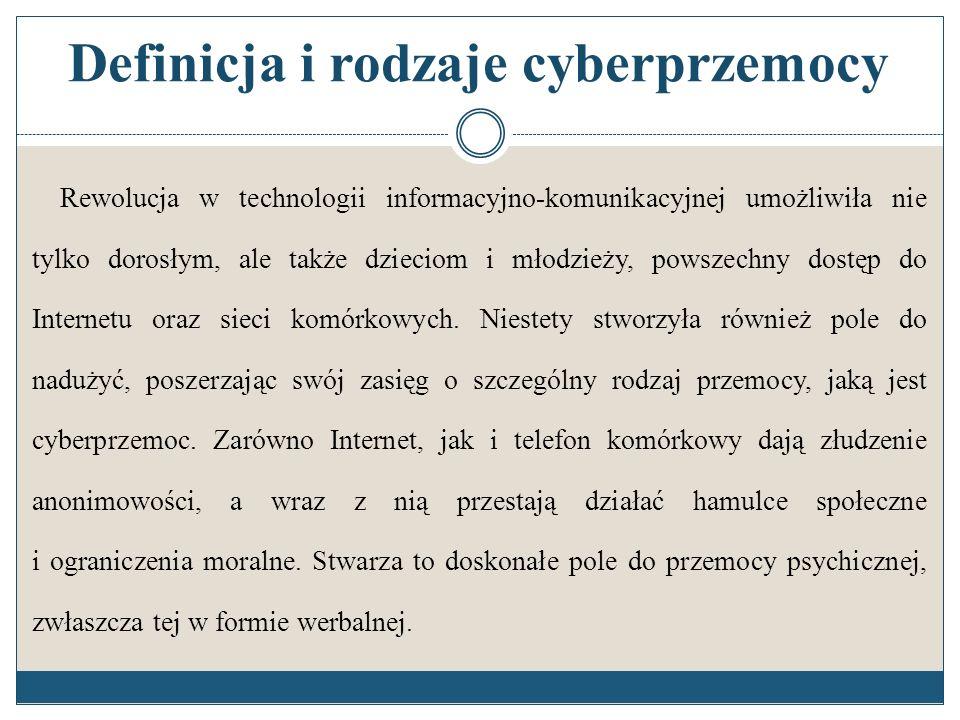 Definicja i rodzaje cyberprzemocy