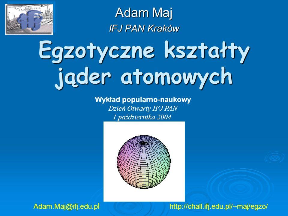 Egzotyczne kształty jąder atomowych
