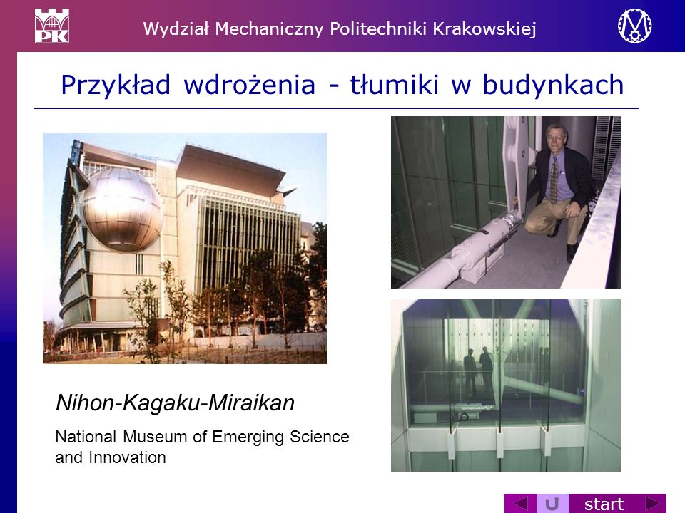 Przykład wdrożenia - tłumiki w budynkach
