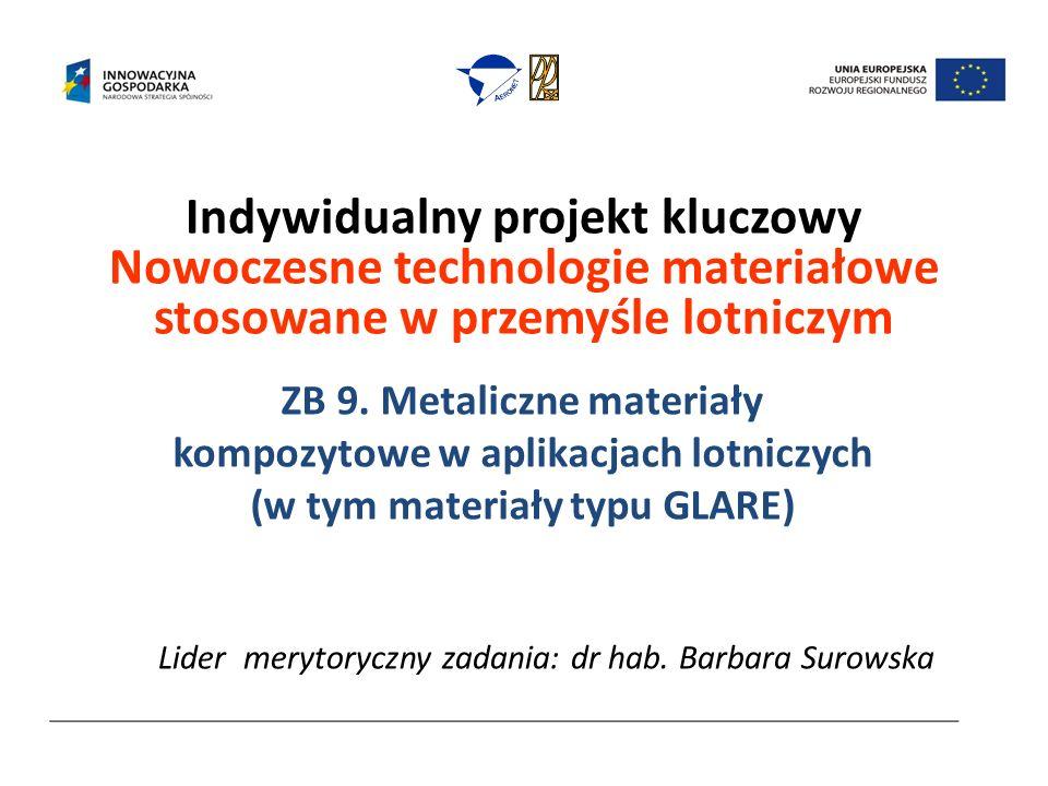 Indywidualny projekt kluczowy Nowoczesne technologie materiałowe stosowane w przemyśle lotniczym