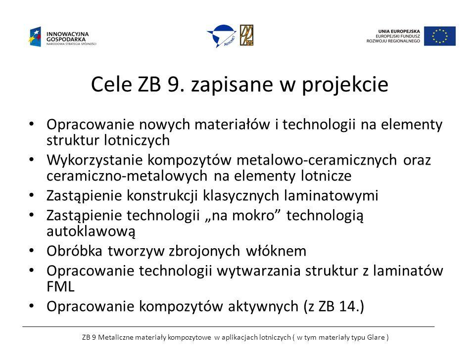Cele ZB 9. zapisane w projekcie