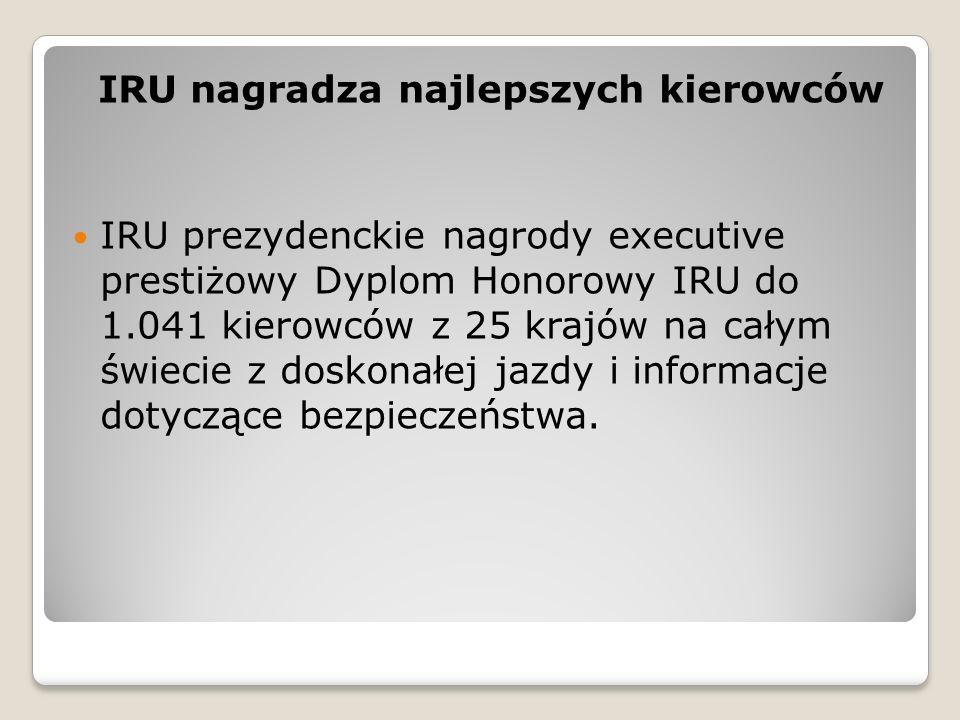 IRU nagradza najlepszych kierowców