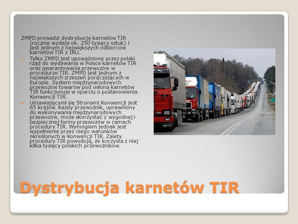 Dystrybucja karnetów TIR