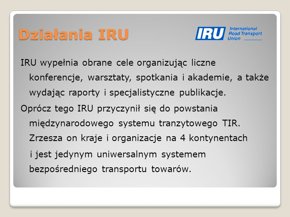 Działania IRU